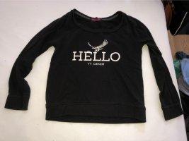 Tom Tailor Denim Crewneck Sweater white-black