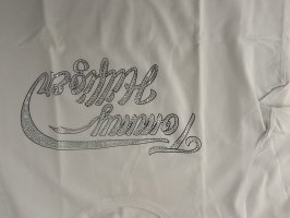 Tommy Hilfiger Top línea A blanco-color plata