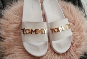 Tommy Hilfiger Sandalias de playa blanco-color oro