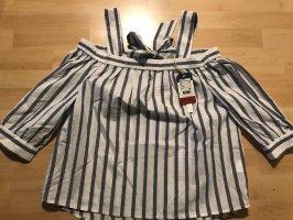Tommy Jeans Blusa a cuadros blanco-azul celeste