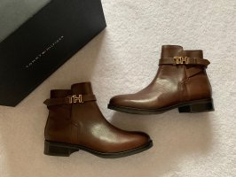 Tommy Hilfiger Chelsea Boots 39 NEU Stiefeletten braun cognac gold