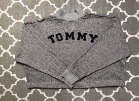 Tommy Hilfiger Crop Pullover Sweater Logo Meliert Gr.XS