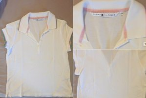 Tommy Hilfiger Damen Poloshirt M L weiß