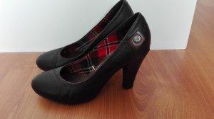 Tommy Hilfiger Denim Pumps hohe Schuhe High Heels Leder schwarz Gr. 36