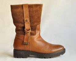 Tommy Hilfiger Denim Stiefeletten Boots ELINA 4AW Leder Gr. 40 cognac gefüttert NEU/ UNGETRAGEN