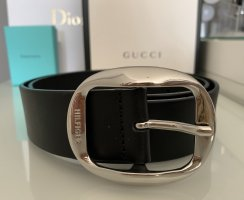 Tommy Hilfiger Leather Belt black-silver-colored