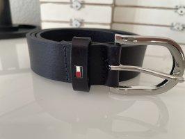 Tommy Hilfiger Cintura di pelle blu scuro-blu