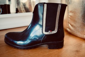 Tommy Hilfiger Wellies black-silver-colored