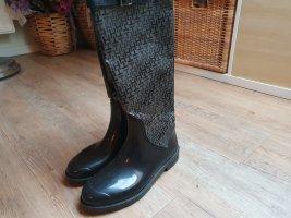 Tommy Hilfiger Gumowe buty ciemnoszary-czarny Poliester