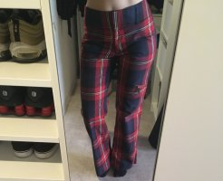 Tommy Hilfiger High Waist Trousers multicolored cotton