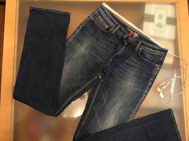 Tommy Hilfiger Jeansy o kroju boot cut ciemnoniebieski-głęboka czerwień