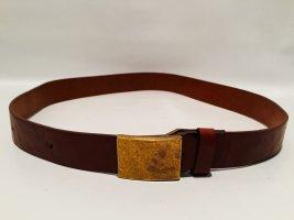Tommy Hilfiger Cinturón de cuero color oro-coñac Cuero