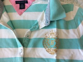 Tommy Hilfiger Polo turquoise-blanc