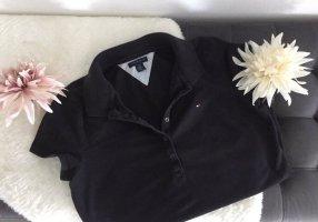 ⭐️ TOMMY HILFIGER Poloshirt T-Shirt Damen / Gr. M / schwarz