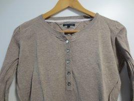 Tommy Hilfiger Pullover, beige, Gr. 36/S, Knopfzeile, leichte Baumwolle