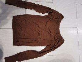 Tommy Hilfiger Cienki sweter z dzianiny brązowy