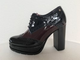 Tommy Hilfiger, Pumps, schwarz-bordeaux-navy, Lackleder, 36 (UK 3,5/ US 6/ 23 cm), neu