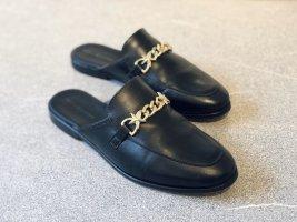 Tommy Hilfiger Schuhe Slipper Gr. 39 Leder Schwarz