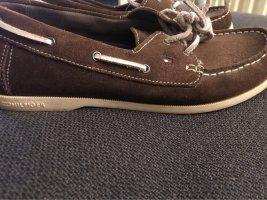 Tommy Hilfiger Zapatos de marinero marrón-blanco