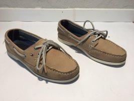 Tommy Hilfiger Zapatos de marinero marrón claro Cuero