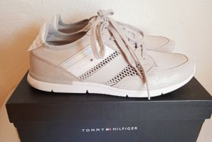 TOMMY HILFIGER, Sneaker, 40, NP 89€, Textil + Velour, Grau mit Silber, dezenter Glitzer, STYLISH