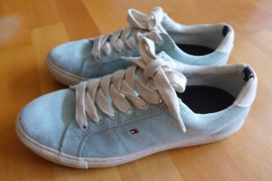 Tommy Hilfiger Sneaker Halbschuhe Turnschuhe türkis hellgrün hellblau  Gr. 39