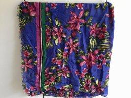 Tommy Hilfiger Sommer Schal Tuch groß Tropical Print Blumen pink blau Neu