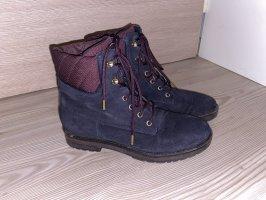 Tommy Hilfiger Aanrijg laarzen donkerblauw-braambesrood
