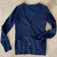 Tommy Hilfiger Cardigan tricotés bleu foncé-vert clair coton