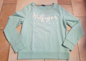 Tommy Hilfiger Chaqueta de tela de sudadera verde pálido-blanco