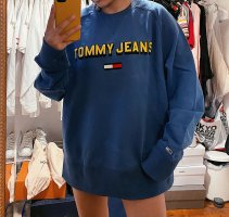 Tommy Hilfiger / Tommy Jeans Pullover Sweater Logo blau gelb