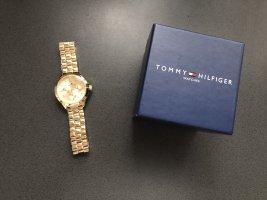 Tommy Hilfiger Montre avec bracelet métallique doré