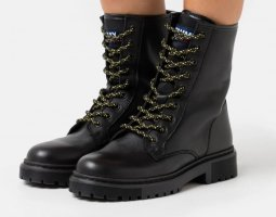 Tommy Jeans Lace-up Booties black
