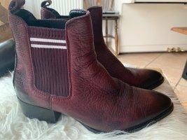 Tommy Jeans Chelsea Boots Gr. 38 Bordeaux