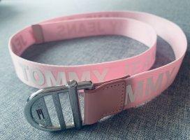 Tommy Jeans Ceinture en tissu rose clair-blanc