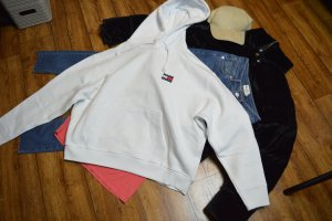 Tommy Jeans Hoodie Gr. 40 weiss