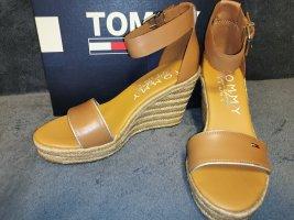 Tommy Jeans Wedge Pumps sand brown-brown