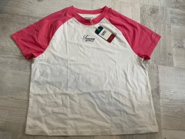 Tommy Jeans T-shirt bianco-rosso lampone