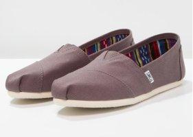 Toms Moccasins grey violet leather
