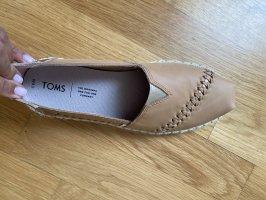 Toms Schuhe 39 leder beige