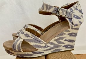 TOMS Wedge-Plateausandalen Canvas Batikmuster Gr. 9,5 (EUR 41)