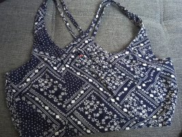 H&M Divided Top tipo bustier blanco-azul oscuro