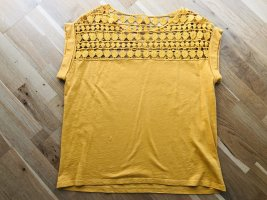 Hallhuber Crochet Shirt primrose-yellow