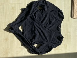 SheIn T-shirt col en V noir