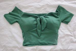 Top bandeau verde