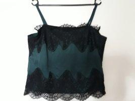 lipsy london Lace Top black-dark green