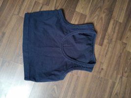 Cropped top donkerblauw