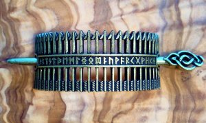 Spilla per capelli bronzo-sabbia Metallo
