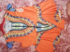 no name Peplum Top orange