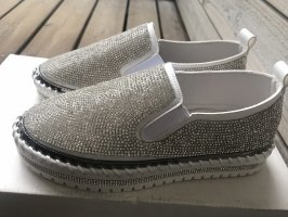 Top schicke Trend-Espadrilles/Sneaker mit Strass Glitzer, Designerstyle Gr. 37 neu